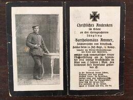 Sterbebild Wk1 Ww1 Bidprentje Avis Décès Deathcard IR16 LANGEMARK September 1918 Aus Hinzlbach - 1914-18
