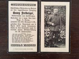 Sterbebild Wk1 Ww1 Bidprentje Avis Décès Deathcard RIR1 April 1918 Aus Feldkirchen - 1914-18