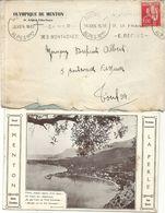 OLYMPIQUE DE MENTON .COVOCATION SUR CPA CABINET DU MAIRE . 1934 - Other
