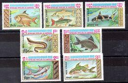 Serie De Kampuchea N ºYvert 426/32 ** PECES (SHIPS) - Kampuchea