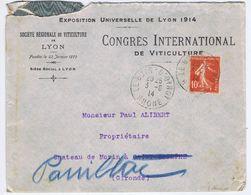 RHÔNE - Cachet Manuel LE BOIS-D'OINGT Du 3 -6  14 - Postmark Collection (Covers)