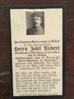 Sterbebild Wk1 Ww1 Bidprentje Avis Décès Deathcard RIR15 Gasvergiftung LABRY Block 1 Grab 91 Aus Moosach - 1914-18