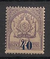Tunisie - 1908 - N°Yv. 44 - Armoiries 40 Sur 2f Violet Gris - Neuf Luxe ** / MNH / Postfrisch - Tunisie (1888-1955)