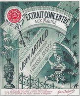 06 GRASSE ETIQUETTES PARFUMEUR JEAN ARTAUD PUBLICITE PARFUM EXTRAIT CONCENTRE AUX FLEURS ALPES MARITIMES - Etiquettes