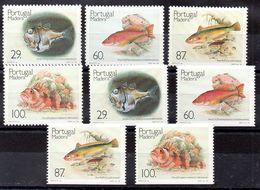 Series De Madeira N ºYvert 136/39+136a/39a ** PECES (SHIPS) - Madère