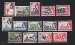 Tristan Da Cunha 1953 Yvert 14-27, Definitive Set. Royalty. Queen Elizabeth. Fauna. Landscapes. Agriculture - MNH - Tristan Da Cunha