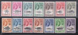 Tristan Da Cunha 1960 Yvert 28-41, Definitive Set. Royalty. Queen Elizabeth. Fauna. Marine Life, Fishes - MNH - Tristan Da Cunha