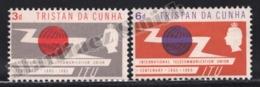 Tristan Da Cunha 1965 Yvert 85-86, Communications. Centenary International Communication Union. Globe - MNH - Tristan Da Cunha