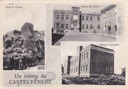 Cartolina Di Castelvenere ( Benevento ) Saluti Con Vedutine - Benevento