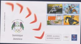 Dominica FDC 2000 Sydney Olympic Games (NB**LAR9-160) - Verano 2000: Sydney