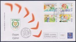 Cyprus FDC 2000 Sydney Olympic Games (NB**LAR9-160) - Verano 2000: Sydney