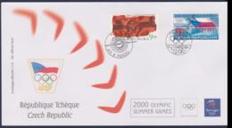 Ceska Republic FDC 2000 Sydney Olympic Games (NB**LAR9-160) - Verano 2000: Sydney