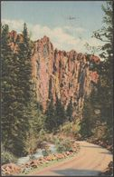 Palisades In Cimarron Canyon, New Mexico, 1938 - JR Willis Postcard - Etats-Unis