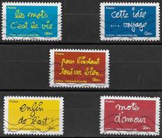 France 2011 Oblitéré Autoadhésif  N°  611 - 613 - 614 - 615 - 617 -  Sourires Par L'humoriste Ben - France