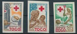 Togo   Nobel Red Cross Croix Rouge Imperf  MNH - Nobel Prize Laureates