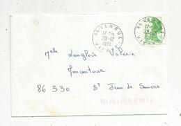 Lettre , 86 VERRUE , VIENNE , 1984 , 2 Scans - Marcofilie (Brieven)