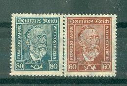 ALLEMAGNE République De Weimar - N° 361* Et 362* MH - Cinquantenaire De L'Union Postale Universelle. - Germany