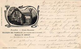 D33  ARCACHON  Chalet Rousseau .......... Carte Peu Courante  ..............Extrait Du Grand Annuaire - Arcachon