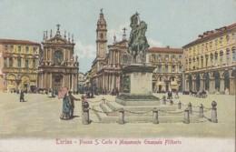Italie - Torino - Piazza San Carlo E Monumento Emanuele Filiberto - Statue Equestre - Places