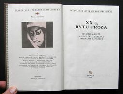Lithuanian Book / XX Amžiaus Rytų Proza 1986 - Libros, Revistas, Cómics