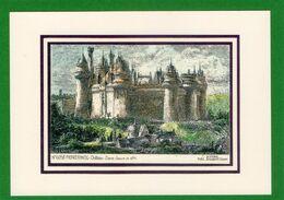 Château De PIERREFONDS  D'aprés Gravure De 1871 Couleur  Vues YVES DUCOURTIOUX CPA  Impeccable - Châteaux