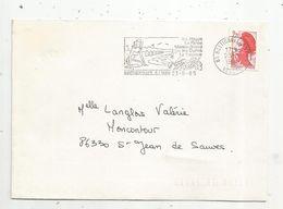 Lettre , 85 BRETIGNOLLES S/MER , 1985 , Flamme: Les Plages La Parée , Marais-Girard Les Dunes La Sauzaie - Marcofilie (Brieven)