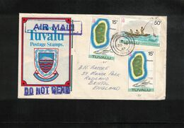 Tuvalu 1978 Interesting Airmail Letter - Tuvalu