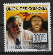 COMORES  N° 1586  * * Decouvertes Celebres Yves Coppens Paléontologue - Prehistory
