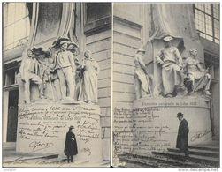 LIEGE ..-- 2 Cartes EXPOSITION 1905 . Vers PARIS ( Melle Marguerite GUFFROY ) . Signé : GEORGES . - Schriftsteller