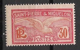 SPM - 1922-28 - N°Yv. 111 - Goéland 30c - Neuf Luxe ** / MNH / Postfrisch - Unused Stamps