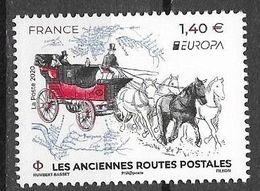 FRANCE, 2020, MNH, EUROPA, ANCIENT POSTAL ROUTES, COACHES, HORSES,1v - 2020