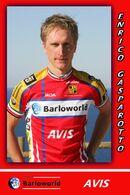 CARTE CYCLISME ENRICO GASPAROTTO TEAM BARLOWORLD 2008 - Cyclisme