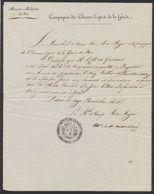 Précurseur - Maison Militaire Du Roi : Compagnie Des Chevau-Légers De La Garde (Paris, 1815). Texte ! - Marcofilia (sobres)