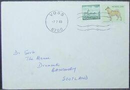 Norway - Cover To Scotland 1983 Dog Voss - Norwegen