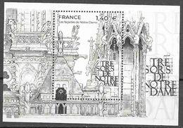 FRANCE, 2020, MNH, NOTRE- DAME, FACADES OF NOTRE-DAME, MONUMENTS, S/SHEET - Eglises Et Cathédrales
