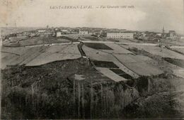 42 LOIRE - CP SAINT GERMAIN LAVAL - VUE GENERALE COTE SUD - J. VERDIER EDITEUR - CIRCULEE FM EN 1915 - Saint Germain Laval