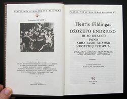 Lithuanian Book / Džozefo Endriuso Istorija Fielding 1988 - Libros, Revistas, Cómics