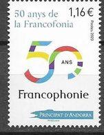 FRENCH ANDORRA, 2020, MNH, FRENCH LANGUAGE, 50 YEARS OF FRANCOPHONIE, 1v - Sprachen