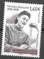 FRENCH ANDORRA, 2020, MNH, VICTORIA ZORZANO, FAMOUS WOMEN, RADIO, RADIO SPEAKER, 1v - Sonstige
