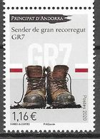 FRENCH ANDORRA, 2020, MNH, GR7, HIKING BOOTS,1v - Sellos