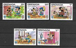 Disney Set Grenada 1985 The Prince And The Pauper MNH - Disney