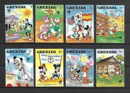 Disney Set Grenada 1988 Olympic Games SEOUL MNH - Disney