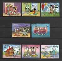 Disney Set Grenada 1991 Disney Characters In Japanese Festivals MNH - Disney