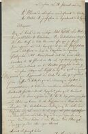 Précurseur - LAC Datée De Ledeghem 21 Floréal An X (11/5/1802) + Obl Linéaire MENIN > Bruges / Maire De Ledeghem - 1794-1814 (French Period)