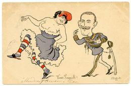 Italie Hésite.alliance Triplice ? Ou Alliance Alliés ? Illustrateur Morales Marianne Sexuellement Racoleuse. - Satirische