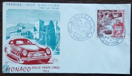 Monaco - FDC 1956 - YT N°441 - Rallye Automobile De Monte Carlo - FDC