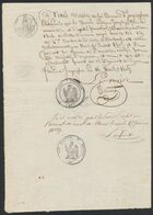 Précurseur - Manuscrit Du Maire D'Ingoighem (Ingooigem, 16/8/1809) + Cachet Noir Avec Aigle. A Voir ! TB - 1794-1814 (French Period)