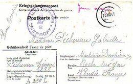 C12 1942 Carte Prisonnier De Guerre  STALAG XVIII A  CAMP N° 306 - WW II