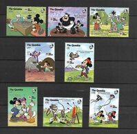 Disney Set Gambia 1987 Japanese Games And Sports MNH - Disney