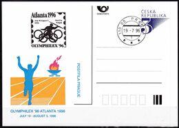 Cesca, 1996, P 19 - A 3, ATLANTA; OLYMPHILEX - Ganzsachen